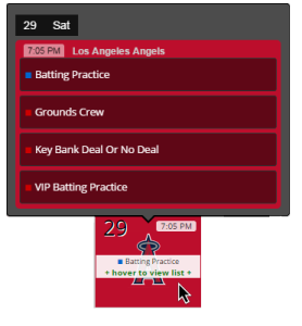 Rewards Calendar Events