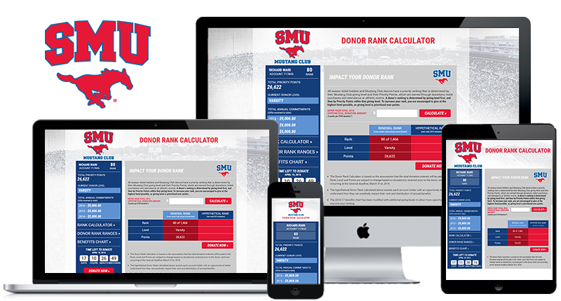 SMU Donor Rank Calculator website