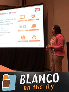 Miami Marlins' Cristina Blanco presenting at PVEX 2016